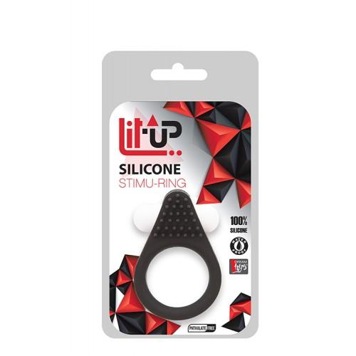 LIT-UP SILICONE STIMU RING 1 BLACK