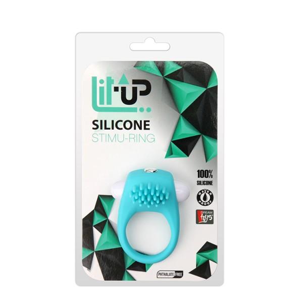 LIT-UP SILICONE STIMU RING 5 BLUE