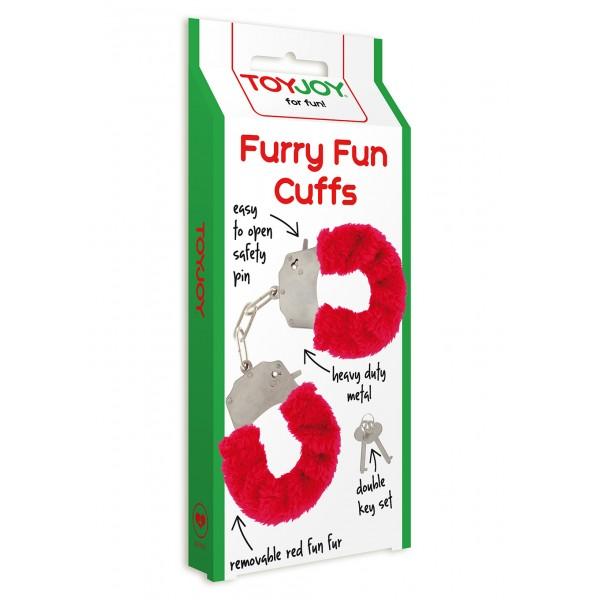 FURRY FUN CUFFS RED PLUSH
