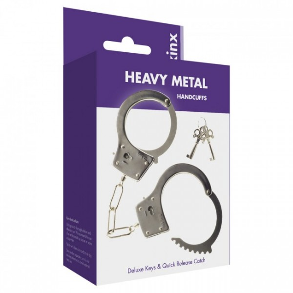 Metal Handcuffs with 2 Deluxe Keys Was