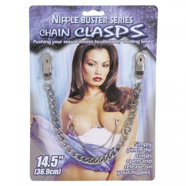 "Chain Clasps 14.5"" Metal Chain ~ Silver"