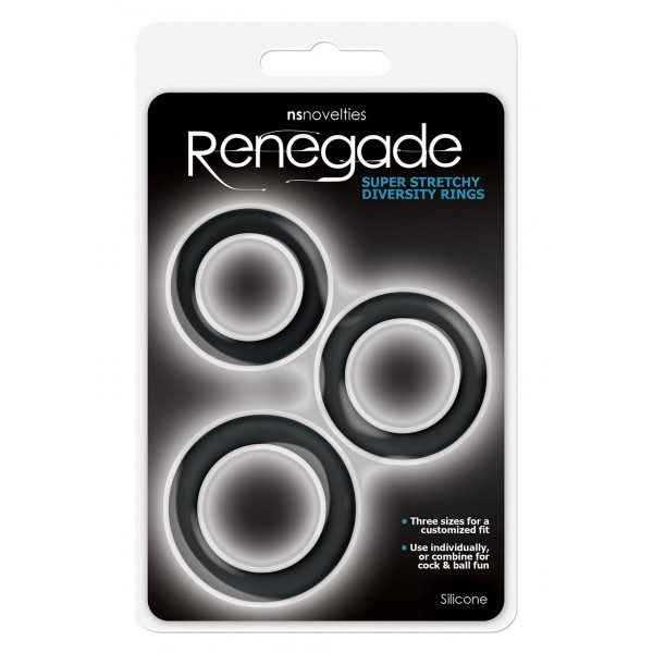 RENEGADE DIVERSITY RINGS BLACK