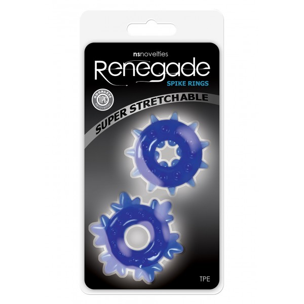 RENEGADE SPIKE RINGS BLUE