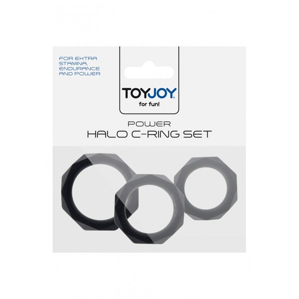 POWER HALO C-RING SET BLACK