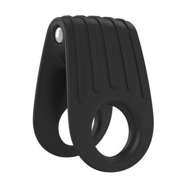 OVO B12 DOUBLE PENIS RING BLACK krúžok