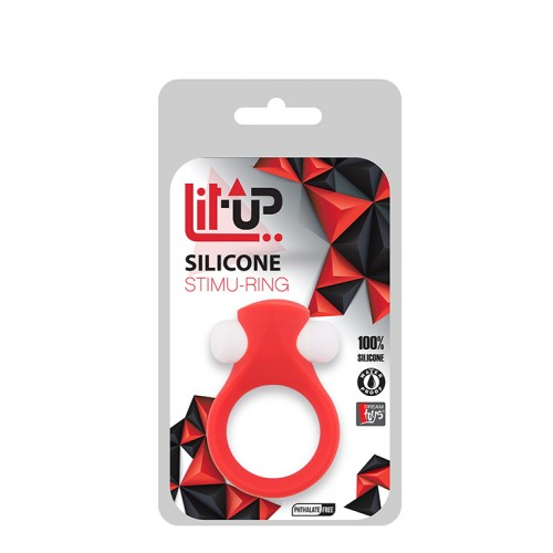 LIT-UP SILICONE STIMU RING 2 RED