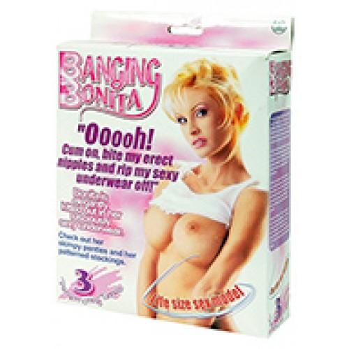 Banging Bonita Life Size Love Doll with 3 Penetrating Holes